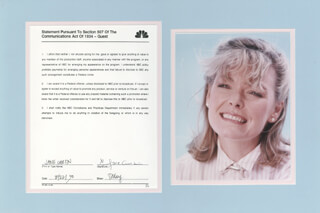 JANE CURTIN - DOCUMENT SIGNED 08/22/1990