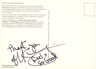 CHUCK MANGIONE - AUTOGRAPH QUOTATION SIGNED