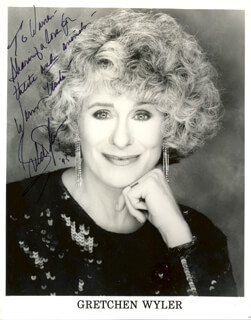 GRETCHEN WYLER - AUTOGRAPHED INSCRIBED PHOTOGRAPH 1995