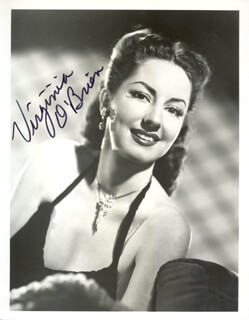 VIRGINIA O'BRIEN - AUTOGRAPHED SIGNED PHOTOGRAPH
