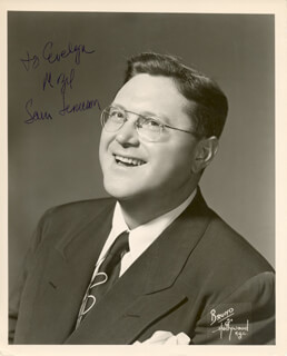 SAM LEVENSON - AUTOGRAPHED INSCRIBED PHOTOGRAPH