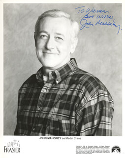 JOHN MAHONEY - AUTOGRAPHED INSCRIBED PHOTOGRAPH