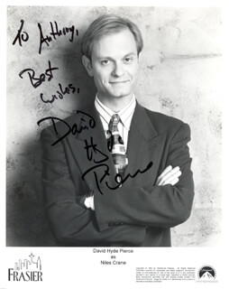 DAVID HYDE PIERCE - AUTOGRAPHED INSCRIBED PHOTOGRAPH