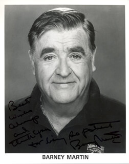 BARNEY MARTIN - AUTOGRAPHED SIGNED PHOTOGRAPH