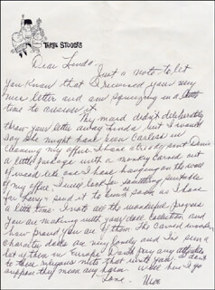 THREE STOOGES (MOE HOWARD) - AUTOGRAPH LETTER SIGNED