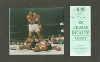 Autographs: MUHAMMAD THE GREATEST ALI - INSCRIBED PAMPHLET SIGNED 01/24/1990