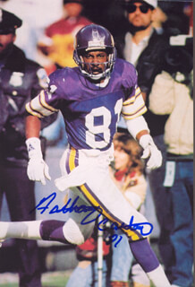 ANTHONY CARTER - AUTOGRAPHED SIGNED PHOTOGRAPH