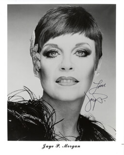 JAYE P. MORGAN - AUTOGRAPHED SIGNED PHOTOGRAPH