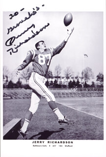 JERRY RICHARDSON - AUTOGRAPHED INSCRIBED PHOTOGRAPH