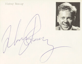 MICKEY ROONEY - AUTOGRAPH