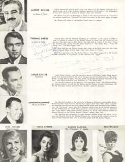 KISMET THEATER CAST - INSCRIBED PROGRAM SIGNED CO-SIGNED BY: THOMAS BARRY, SHARON SUTTON
