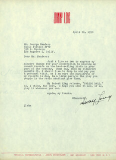 JOHNNY LONG - TYPED LETTER SIGNED 04/18/1950