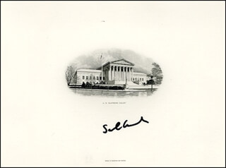 ASSOCIATE JUSTICE SAMUEL A. ALITO JR. - SUPREME COURT ENGRAVING SIGNED