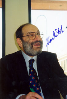 UMBERTO ECO - AUTOGRAPHED SIGNED PHOTOGRAPH