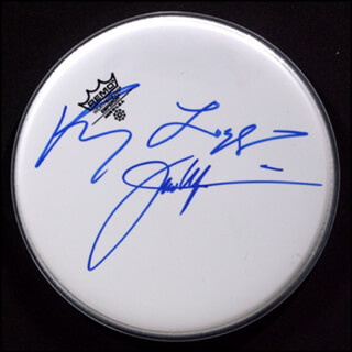 Autographs: KENNY LOGGINS - DRUMHEAD SIGNED CO-SIGNED BY: JIM MESSINA