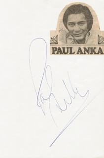 Autographs: PAUL ANKA - SIGNATURE(S)