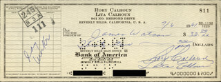 RORY CALHOUN - AUTOGRAPHED SIGNED CHECK 07/06/1961 CO-SIGNED BY: LITA BARON CALHOUN