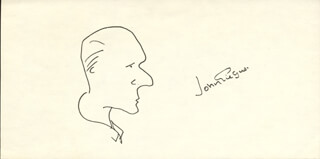 SIR JOHN GIELGUD - SELF-CARICATURE SIGNED