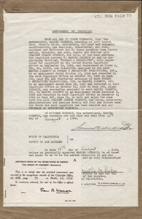 SAMUEL GOLDWYN - DOCUMENT SIGNED 08/19/1946