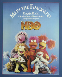 JIM HENSON - AUTOGRAPHED SIGNED POSTER