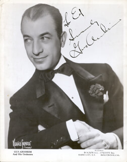 Autographs: GUS ARNHEIM - INSCRIBED PHOTOGRAPH SIGNED