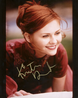 KIRSTEN DUNST - AUTOGRAPHED SIGNED PHOTOGRAPH