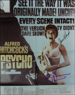 PSYCHO! MOVIE CAST - AUTOGRAPHED SIGNED PHOTOGRAPH CO-SIGNED BY: JANET LEIGH, ANTHONY PERKINS