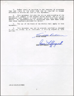 GILDA RADNER - DOCUMENT SIGNED 04/29/1988