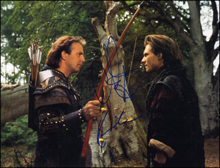 ROBIN HOOD: PRINCE OF THIEVES MOVIE CAST - AUTOGRAPHED SIGNED PHOTOGRAPH CO-SIGNED BY: KEVIN COSTNER, CHRISTIAN SLATER