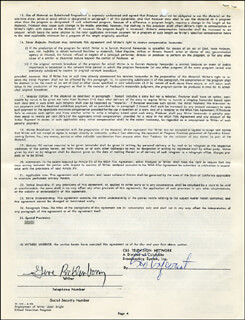 GENE RODDENBERRY - DOCUMENT SIGNED 07/27/1962