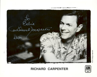 RICHARD CARPENTER - AUTOGRAPHED INSCRIBED PHOTOGRAPH 06/06/2001