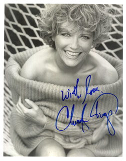 CHERYL TIEGS - AUTOGRAPHED SIGNED PHOTOGRAPH