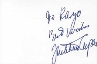 Autographs: MITCHELL AYRES - INSCRIBED SIGNATURE
