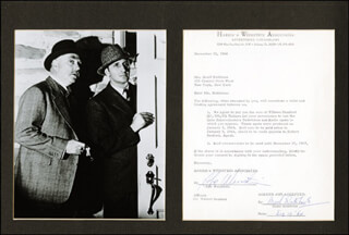 BASIL RATHBONE - DOCUMENT SIGNED 12/19/1964