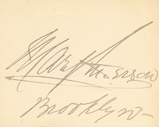 MARY A. ANDERSON - AUTOGRAPH