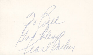 PEARL BAILEY - AUTOGRAPH NOTE SIGNED  - HFSID 27132