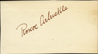 Autographs: ROSCOE FATTY ARBUCKLE - SIGNATURE(S)