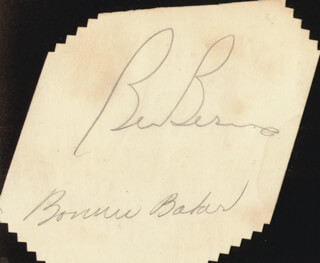 BONNIE WEE BONNIE BAKER - AUTOGRAPH CO-SIGNED BY: BEN BERNIE