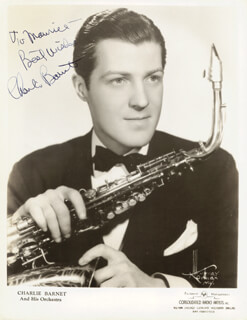 CHARLIE BARNET - AUTOGRAPHED INSCRIBED PHOTOGRAPH