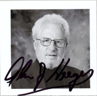 Autographs: ALAN J. HEEGER - PHOTOGRAPH SIGNED