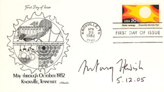 ANTONY HEWISH - FIRST DAY COVER SIGNED 12/05/2005