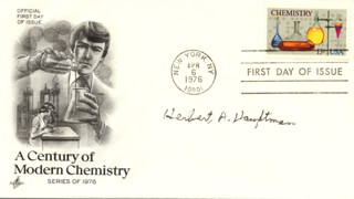 Autographs: HERBERT A. HAUPTMAN - FIRST DAY COVER SIGNED