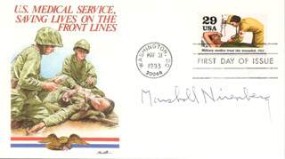 Autographs: MARSHALL W. NIRENBERG - FIRST DAY COVER SIGNED