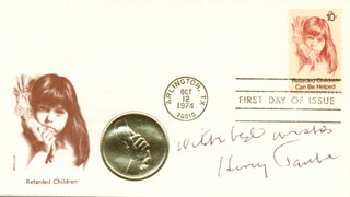 Autographs: HENRY TAUBE - FIRST DAY COVER WITH AUTOGRAPH SENTIMENT SIGNED