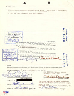 LEE S. MACPHAIL JR. - DOCUMENT SIGNED 12/11/1979 CO-SIGNED BY: JACK TRADER JACK McKEON, AURELIO RODRIGUEZ, CHARLES CHUB FEENEY
