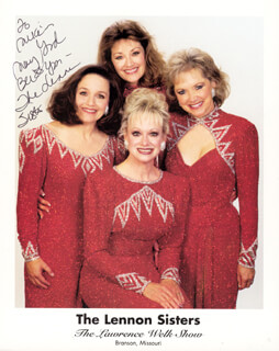 THE LENNON SISTERS - AUTOGRAPHED INSCRIBED PHOTOGRAPH CO-SIGNED BY: THE LENNON SISTERS (MIMI LENNON)