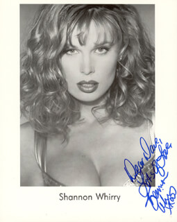 SHANNON WHIRRY - AUTOGRAPHED INSCRIBED PHOTOGRAPH