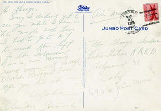 ANN McCORMACK - AUTOGRAPH LETTER SIGNED CIRCA 1956