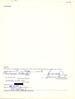 LEE S. MACPHAIL JR. - DOCUMENT SIGNED 08/19/1974 CO-SIGNED BY: LARRY GURA, GABRIEL GABE PAUL