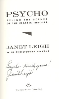 JANET LEIGH - BOOK SIGNED